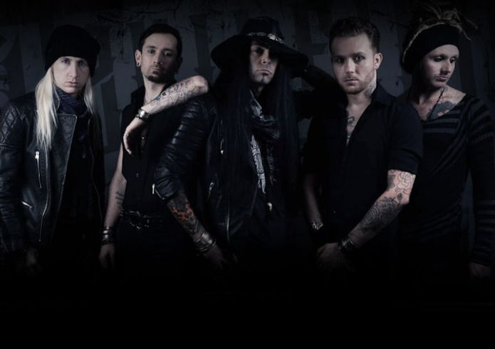 Devilfire band photo, dark and moody